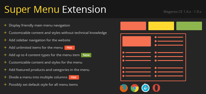 super-menu-magento-extension