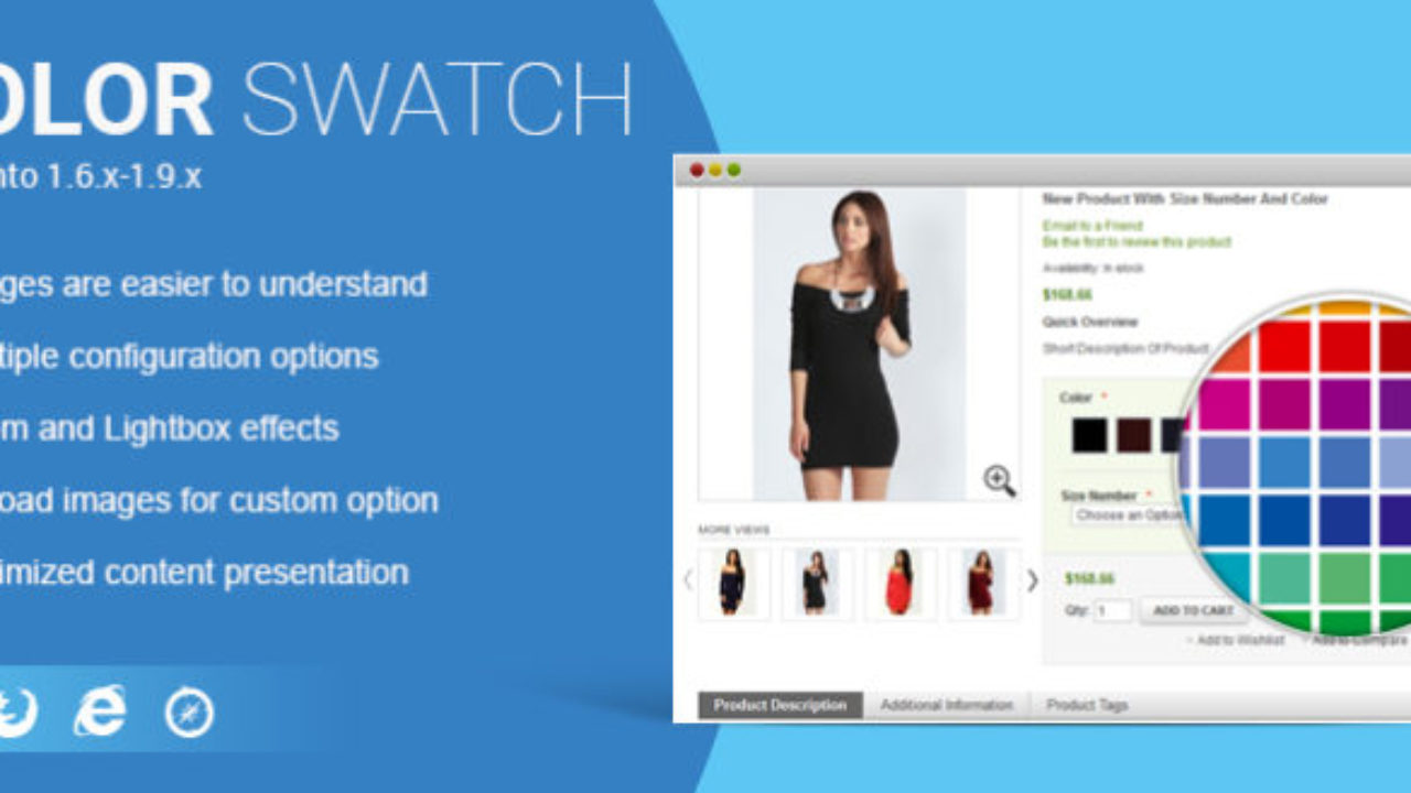 Magento Color Swatch Extension