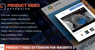 Magento product video extension