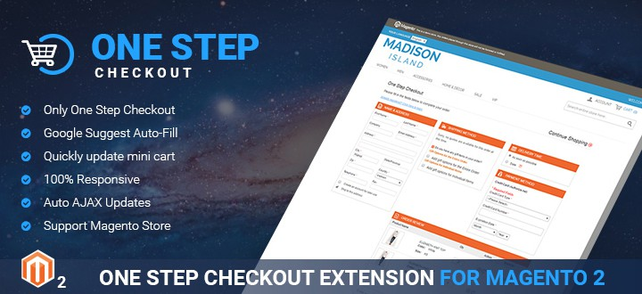 Magento 2 one step checkout extension