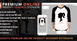 Magento T-shirt design tool