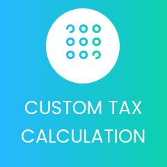 custom Tax calculation