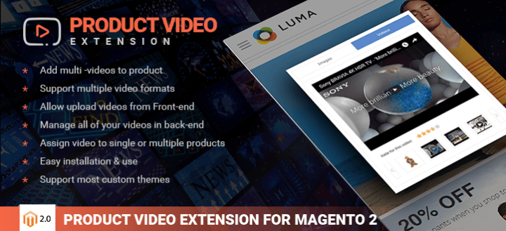 Magento Product Video Extension | Product Video Gallery