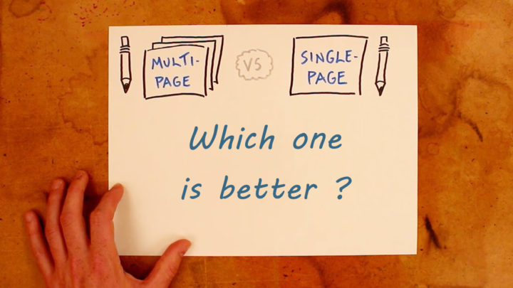 Keep multi pages and merge pages on a website: which one is better?